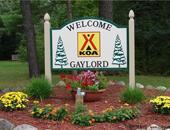 美国密歇根州乡村型盖洛德KOA尊宝娱乐地