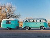 罕有 1963年产大众露营车配1967年产拖挂房车
