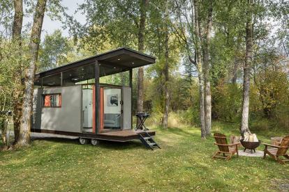 精致的森林画廊 可以当工作室的移动小木屋