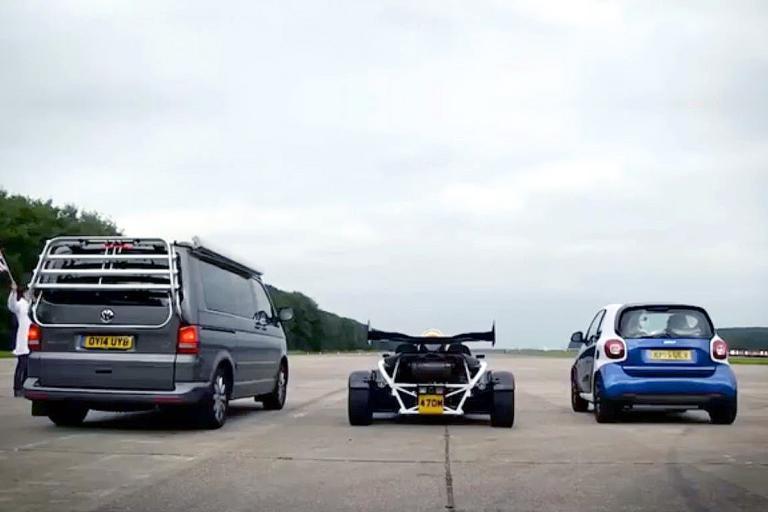房车、smart、跑车比加速 看谁跑的快!