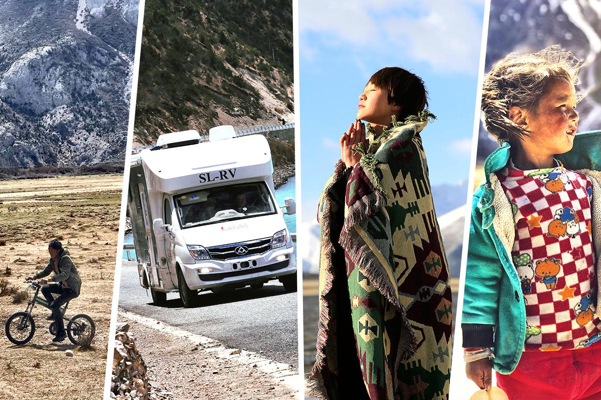 语言从来不是障碍 已与西藏人民打成一片 房车家族自驾西藏行(五)