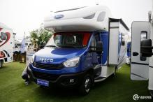 售价56.8万 亚特尊尚双拓展房车正式亮相北京房车露营展