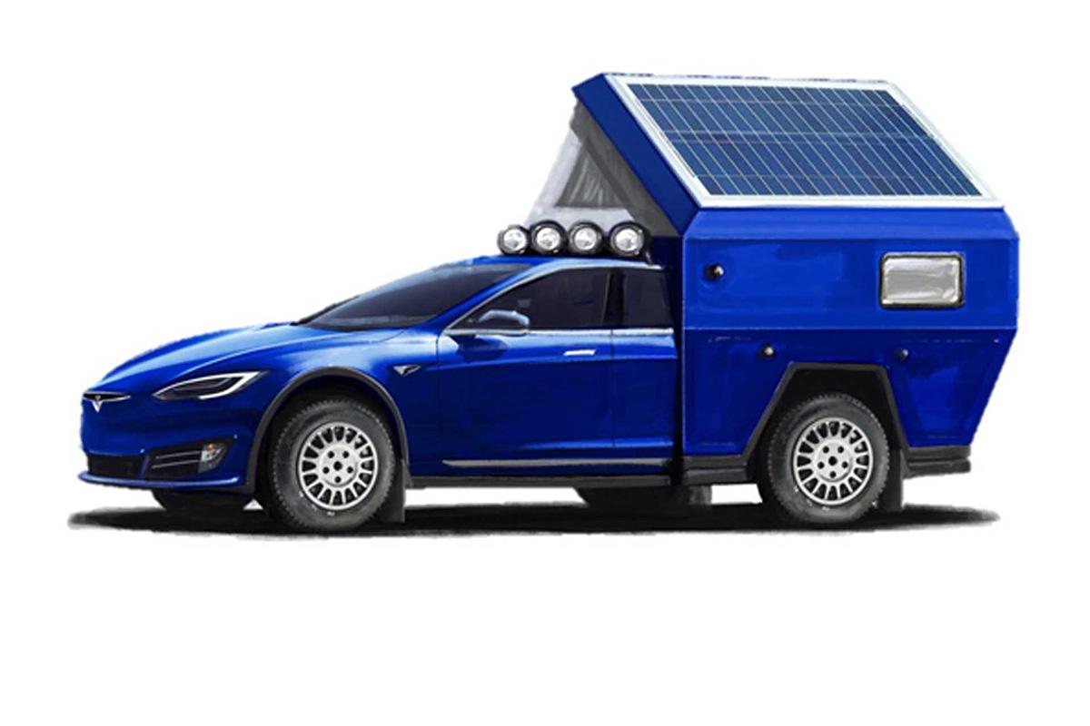 特斯拉首款纯电动房车真的来了!新车设计草图曝光
