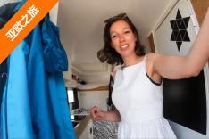房车小队俄罗斯偶遇荷兰车友 荷兰美女带我们介绍她的神车
