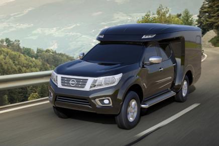 四驱/国六/升降顶设计 日产纳瓦拉SUC皮卡房车3月北京房车展首发