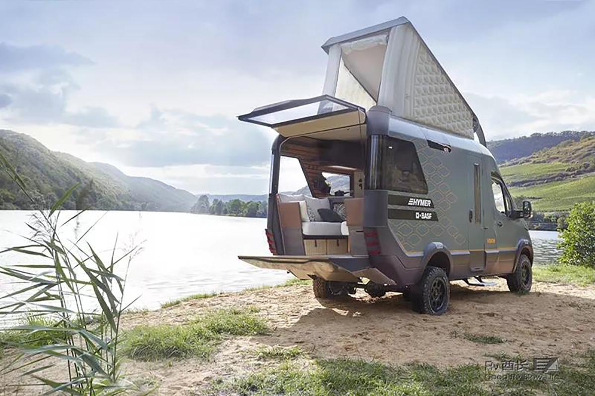 基于奔驰Sprinter的多功能露营车:VisionVenture世界首创充气式自动弹出车顶
