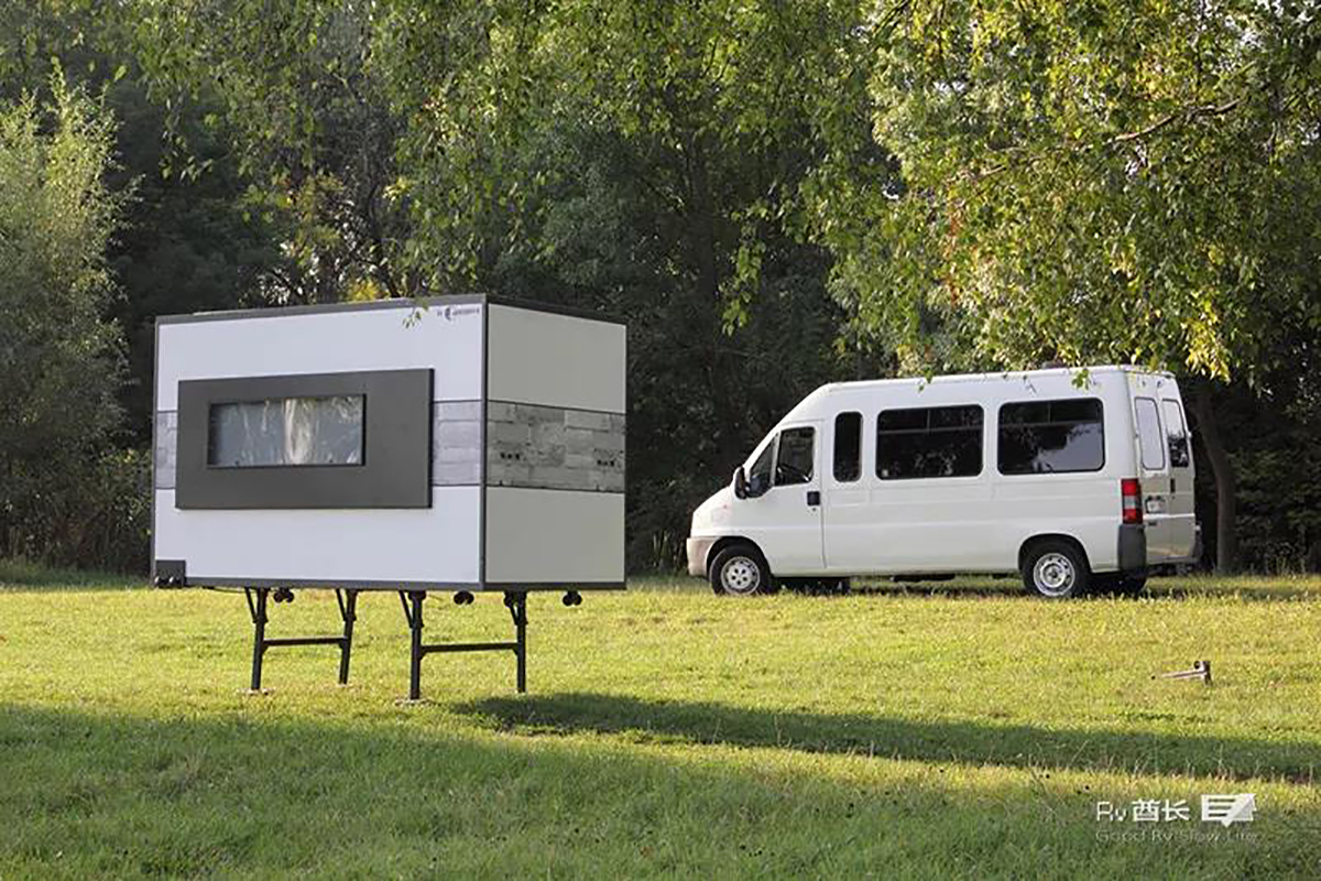 国内房车值得参考:可以塞进面包车的ioCamper折叠露营模块