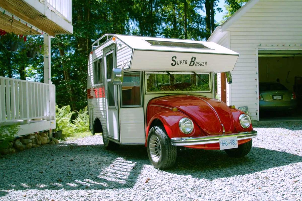 51年前的甲壳虫怎么也想不到自己被跨界改成房车了...