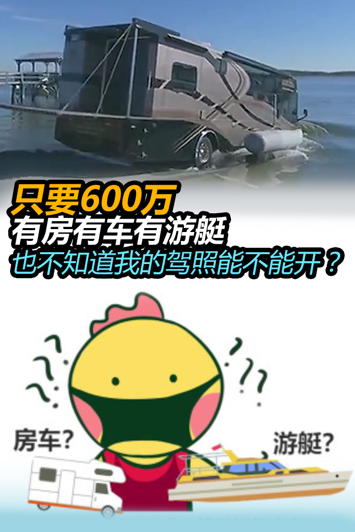 只要600万,有房有车有游艇,也不知道我的驾照能不能开?