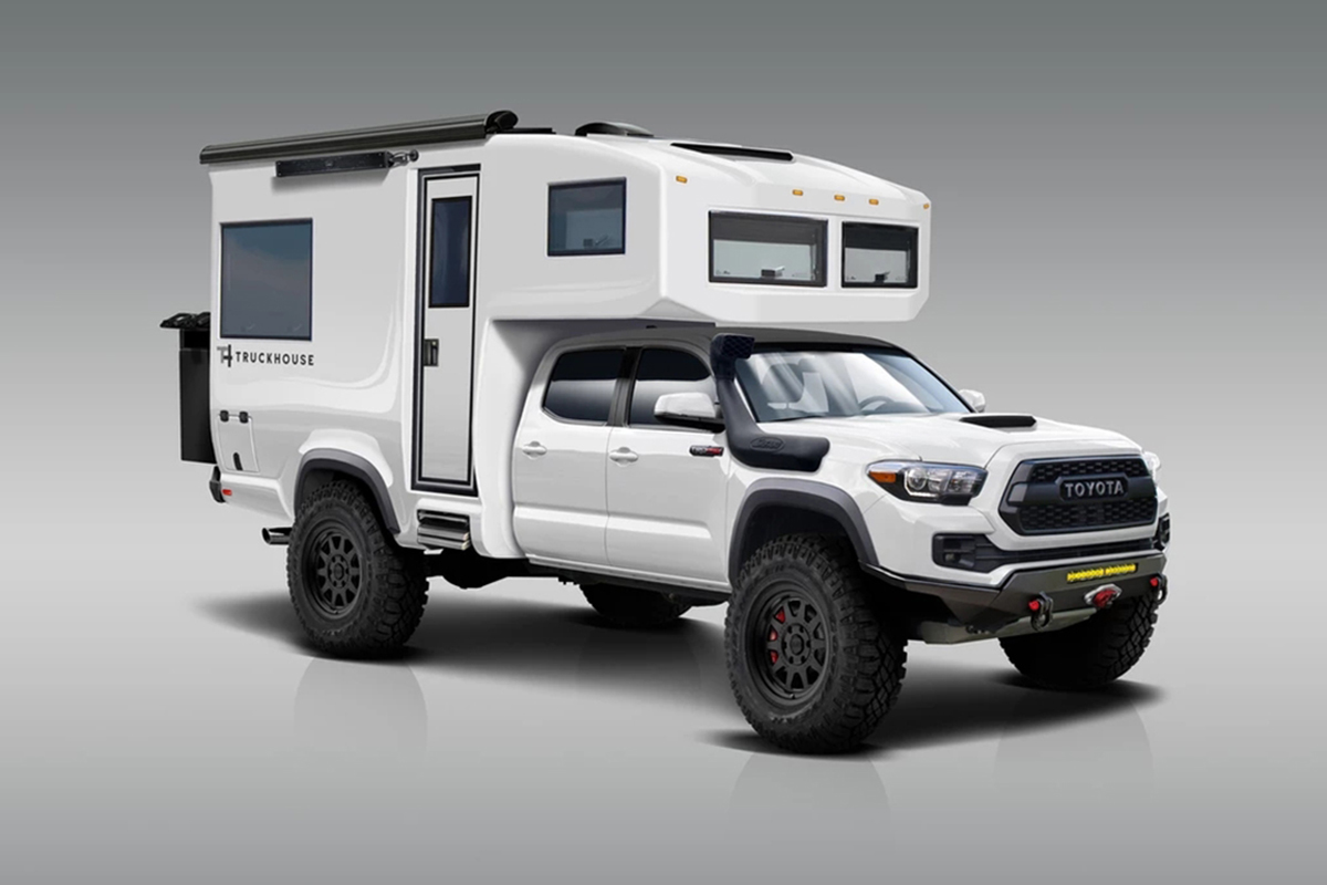 可以挑战极限越野的丰田皮卡房车,车厢外壳还是碳纤维