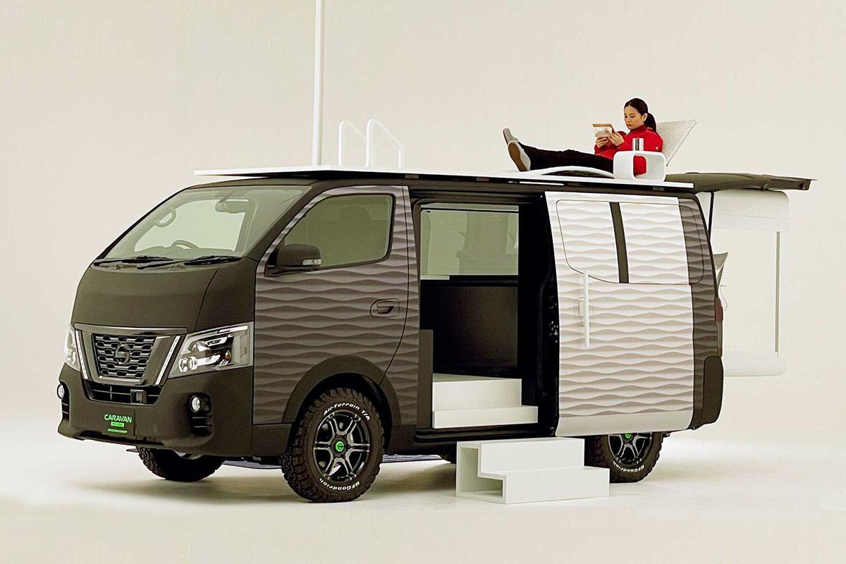 新冠疫情全球蔓延 日产为移动工作者设计了一款高尔夫球形状的露营车