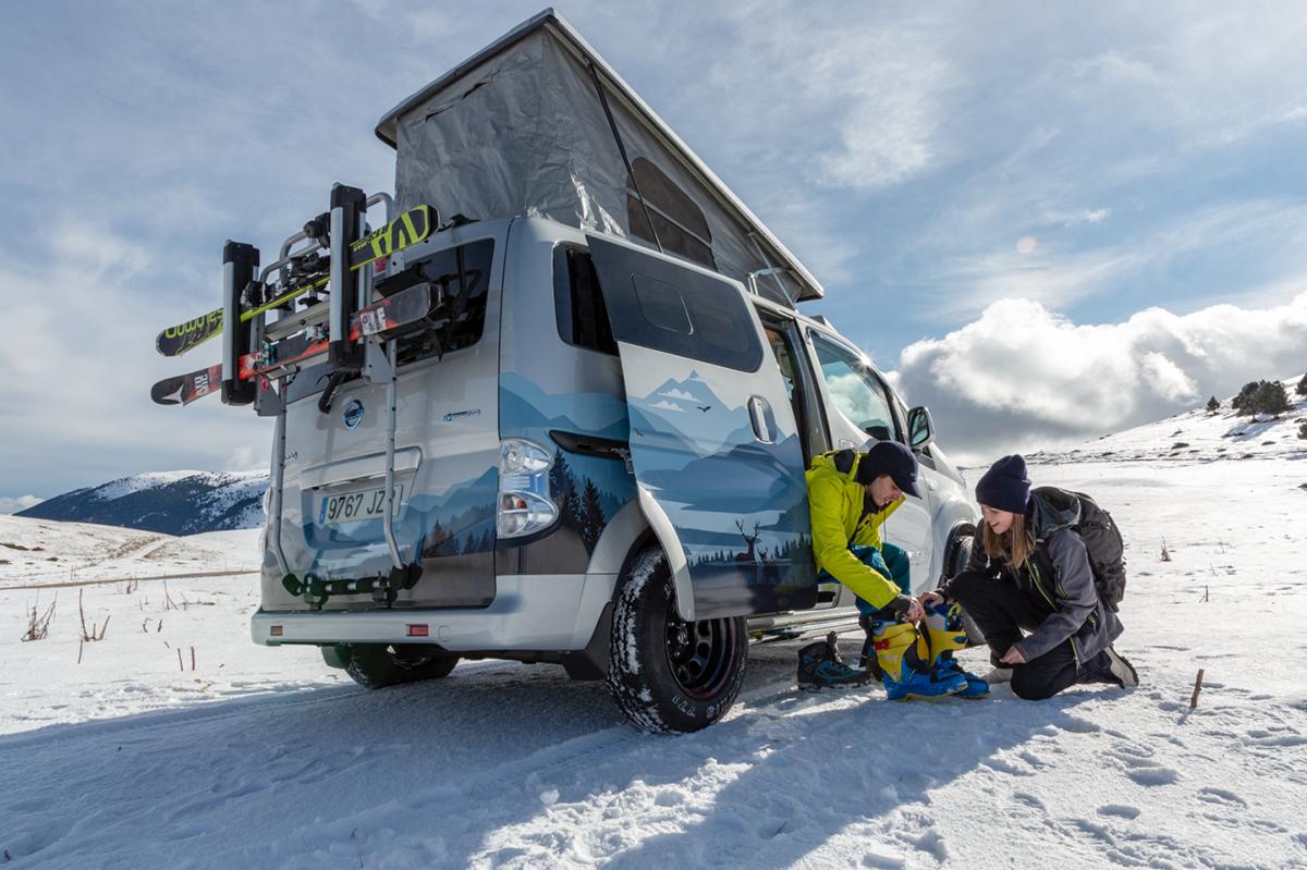 最大续航200km!日产推出e-NV200冬季露营概念车
