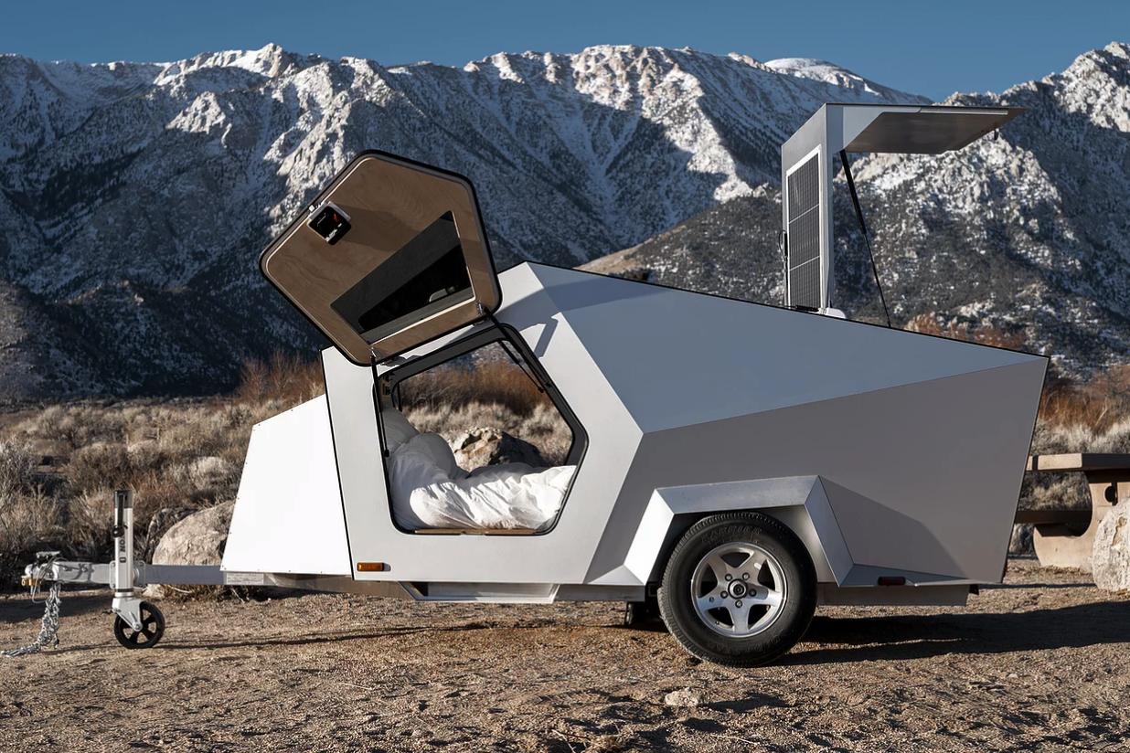 专为电动车主设计的拖挂房车!鸥翼门/外形似太空飞船