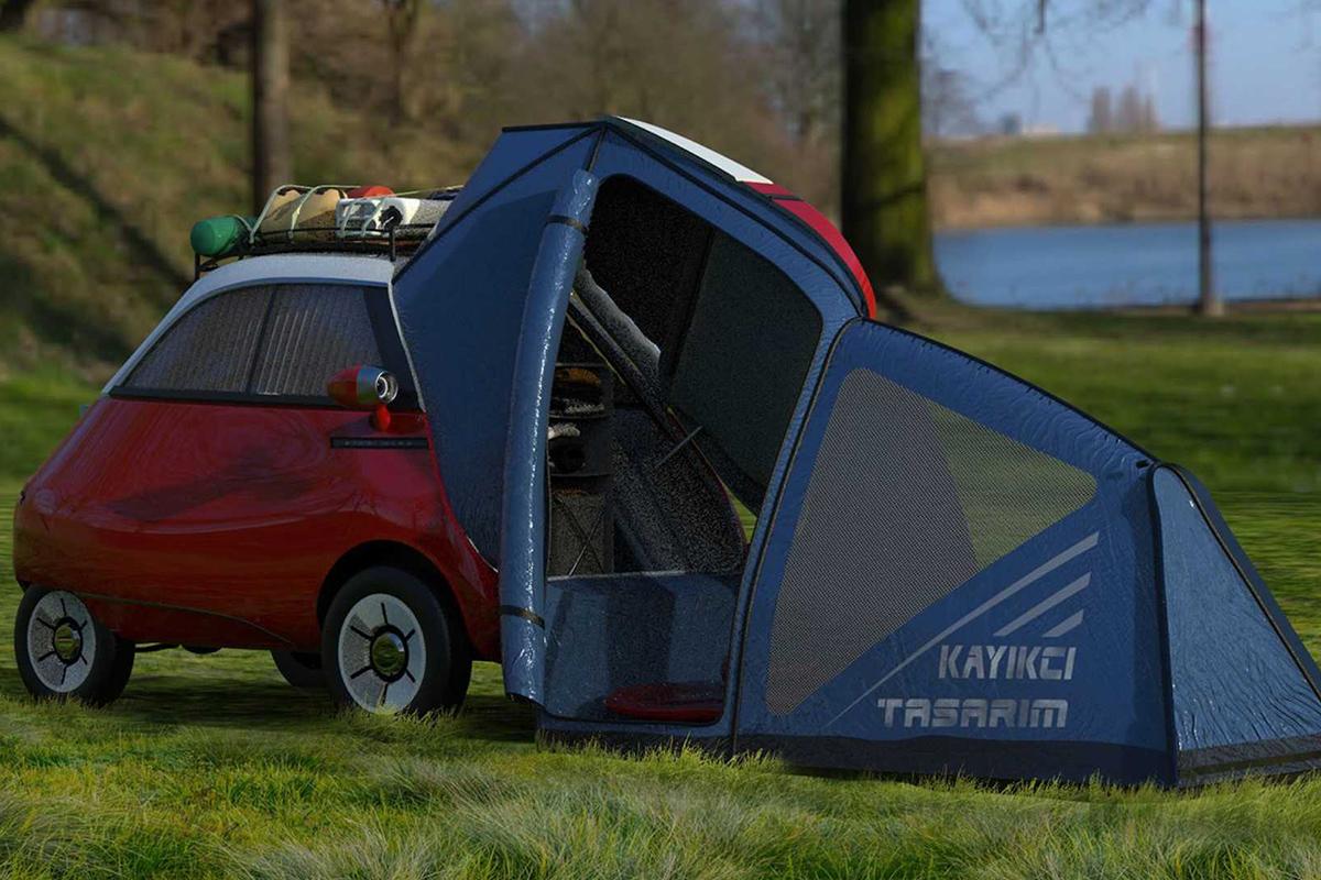 比五菱宏光MINI EV还要小,微型露营车也要来了