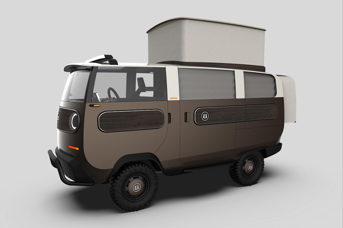 4电机全轮驱动还能越野!这是一款可以快速更换电池的电动房车!