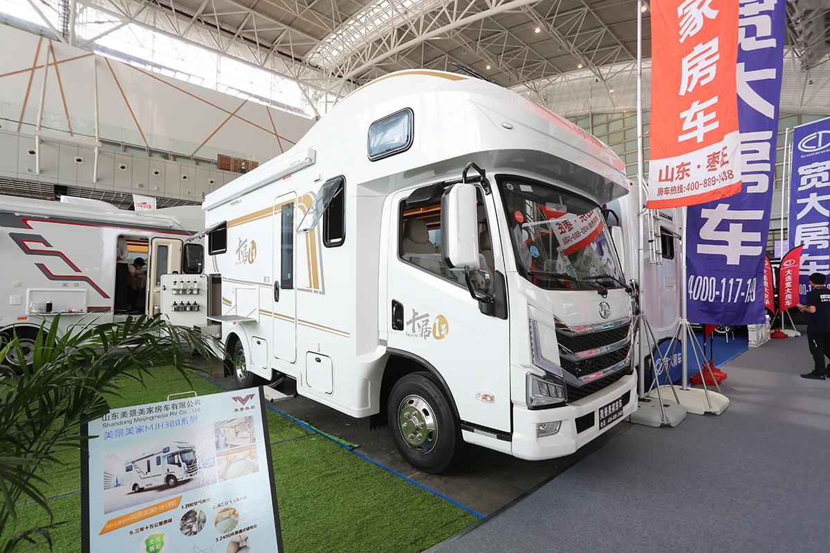 南京展美景美家卡居一号发布,平头大额头房车,通舱设计是亮点!